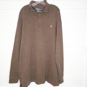 Mens Ralph Lauren Polo Brown Sweatshirt Big Tall